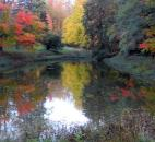 Jules Toussaint of Fort Wayne sent in this photo of fall foliage colors on a private pond off Bass Road, east of Buckner Park.