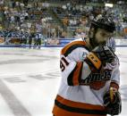 Colin Chaulk skates of the ice after the Komets' 4-2 loss to the Muskegon Fury in game 5 of the 2005 Colonial Cup Championship. Muskegon repeated as UHL champions with the victory. (News-Sentinel file photo)
