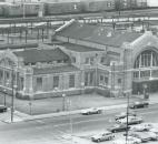 Cars drive by the Baker Street Station on June 29, 1979. (Photo by The News-Sentinel)