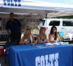 Indianapolis Colts cheerleaders give autographs and meet fans at the Fan Fest. (Photo by Jaclyn Goldsborough of The News-Sentinel)