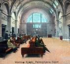 This postcard image shows people in the waiting room of the Baker Street Station in downtown Fort Wayne, which initially was known as the Pennsylvania Railroad Station. (Courtesy photo from Victor Martin)