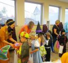"St. Joseph-St. Elizabeth School kindergartners through 4th graders enjoy ""Trick or Trunk"". Photo submitted by St. Joseph-St. Elizabeth School."