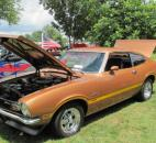 A 1972 Ford Maverick sits on display at the Lawton Park Car show Saturday afternoon. It was just one of many vintage cars at the Fort Wayne Newspapers Three Rivers Festival event. Photo by Matthew Glowicki of The News-Sentinel.