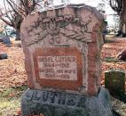 Israel Luther is the father of Aaron Luther, and both fought in the Civil War. Israel Luther enlisted in November 1864 and was discharged in July 1865.