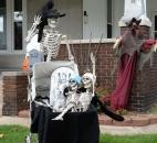 Skeletal residents are ready to greet trick-or-treaters  in the 600 block of Third Street.