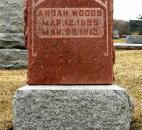 Julie Henricks of Ossian sent in this photo of Ardah Woods' tombstone. Woods was one of four orphans who drowned as they were evacuated from the Allen County Orphan's Home. Woods was a friend of Henrick's grandmother. (Photo courtesy of Julie Henricks)