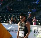 Elias Rojas was the winner of the men's half marathon at this year's Fort4Fitness. (Photo by Reggie Hayes of The News-Sentinel)