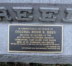 Col. Hugh B. Reed (1818-1890) served as first commander of the 44th Indiana Regiment. He operated the city's first drugstore at the Landing and Calhoun St. He fought in the battles of Fort Donelson and Shiloh.