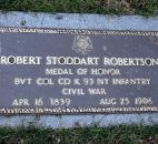 Robert Stoddart Robertson (1839-1906) was wounded in the Battle of Spotsylvania Court House. He was a recipient of the Medal of Honor.