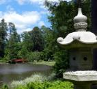 The Asiatic Arboretum includes Asian-themed stone lanterns, Japanese maples, irises, ginger lillies and more at the Sarah P. Duke Gardens in Durham, N.C.  (Photo by Lisa Esquivel Long of The News-Sentinel)