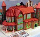 This gingerbread reproduction of the historic mansion at the University of Saint Francis took first place in the Teen Category in this year's Festival of Gingerbread at The History Center. Larissa Johnson created the piece. Photo by Ellie Bogue