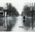 An unidentified man stood in the floodwaters on Elmwood in the Lakeside neighborhood. (News-Sentinel file photo)