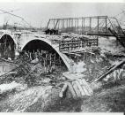 After the flood, several bridges were replaced, including the new Bluffton Road Bridge, shown c. 1930, upstream from the Broadway Bridge. (News-Sentinel file photo)