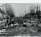 The pavement of St. Joe Boulevard was in ruins after the flood. (News-Sentinel file photo)