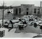 Entrances to the Wayne Oil Tank & Pump Co. were submerged in floodwaters of the Maumee River. (News-Sentinel file photo)