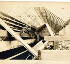 Vesey Greenhouses on Thompson Avenue suffered damage from the flood and a subsequent fire. (Photo courtesy of the Harter Postcard Collection/ACPL)