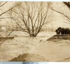 The Lakeside dike could not hold back the floodwaters. (Photo courtesy of the Harter Postcard Collection/ACPL)