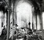Damage from the boiler explosion. Image courtesy of Diocese of Fort Wayne-South Bend