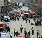 Medical workers respond after an explosion at the 2013 Boston Marathon in Boston. Photo by By The Associated Press