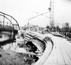 After the flood, several bridges were replaced, including the new Columbia Street Bridge. The structure connects downtown with Lakeside neighborhood. (Photo courtesy of The History Center)