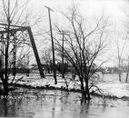 Upstream from the Broadway Bridge, now known as the Bluffton Road Bridge, four orphans from the Allen County Orphan's Home drowned during a rescue attempt. (Photo courtesy of The History Center)