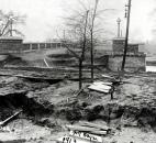 The flood washed out the approach to the Tennessee Avenue Bridge. (Photo courtesy of The History Center)