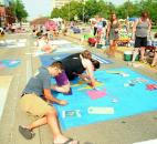 The Chalk Walk, held in conjunction with the Fort Wayne Newspapers Three Rivers Festival, took place in July on Main Street in front of the Fort Wayne Museum of Art. Photo by Kara Hackett