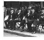 Only five Civil War veterans attended the 1935 Memorial Day program. From left are William Donaldson, Alex Ormiston, Thomas Cragg, William H. Hannen and John Young.