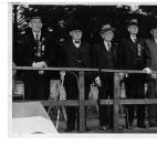 Civil War veterans William H. Hannen, W.X. Stafford, John Townsend Young, William Devlin and Alex Ormiston attend a parade in 1938.