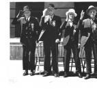 Pictured are Civil War veterans William H. Hannen, Alex Ormiston, Thomas Cragg, John Young in 1936.