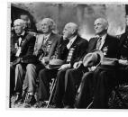 Pictured in this 1937 photo are Civil War veterans William H. Hannen, Alexander Ormiston, William Donaldson, John T. Young and William Devlin.