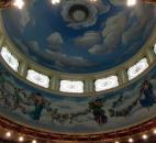 The third floor of Brookside features a ballroom with a mural in the skylight depicting the nine dancing Muses of Greek mythology.