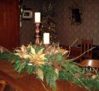 An elaborate centerpiece sits on a table in the Napoleon Room, was decorated by Moring's Flowers and Gifts.