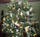 Decorated trees capture the spirit of the season throughout Brookside.