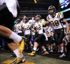 The Snider Panthers take the field for the Class 5A state finals Saturday evening at Lucas Oil Stadium in Indianapolis. (Photos by Rob Edwards for The News-Sentinel) Photo by Rob Edwards