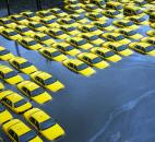 A parking lot full of yellow cabs in Hoboken, N.J., is flooded after Superstorm Sandy blew through in October. The storm, which began as a hurricane, killed more than 170 people in 10 states and the Caribbean and ravaged swaths of New York and New Jersey. Photo by Associated Press