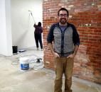 Dan Swartz spent the summer transforming the old Casa restaurant on Fairfield Avenue into Wunderkammer Company, a contemporary art center. The gallery opened for a preview exhibit in December. Photo by Cindy Larson