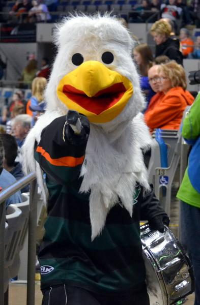 Fort Wayne Komets Mascot Icy D Eagle Celebrates 20 Years